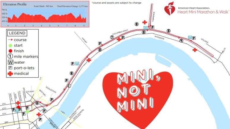 Heart Mini 15K map